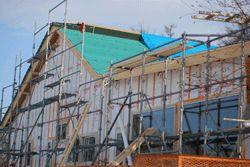増築工事、突貫中